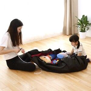 Image 2 - 휴대용 어린이 장난감 스토리지 가방 및 놀이 매트 장난감 주최자 빈 상자 XL 패션 실용적인 스토리지 가방 방수 피크닉 매트 64142