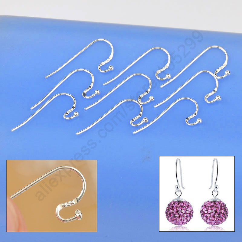 2019 New Arrival Earring Findings Genuine 925 Sterling Silver Jewellery Ear Wire S Ball Hooks DIY Handmade Collections