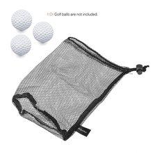 Нейлоновая сумка для мячей для гольфа, Сетчатая Сумка с шнурком, держатель для мячей для гольфа, Спортивная сетчатая сетка для игры в настольный теннис, держатель для переноски, сумка для хранения