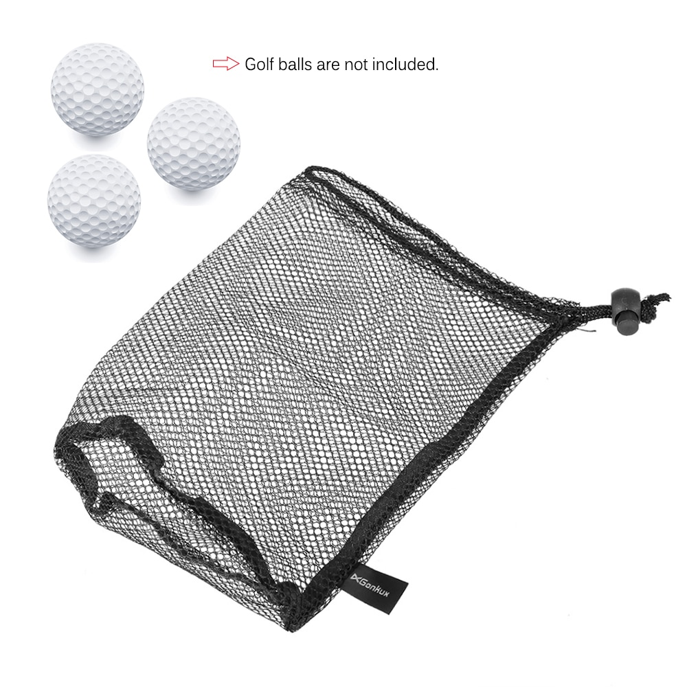 Nylon Golf Balls Bag Drawstring Mesh Net Bag Golf Balls Holder Outdoor Sports Mesh Nets Table Tennis Carrying Holder Storage Bag