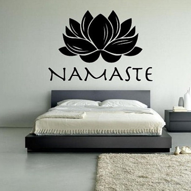 Free shipping lotus namaste vinyl wall decal stickers meditation yoga wall stickers t3017