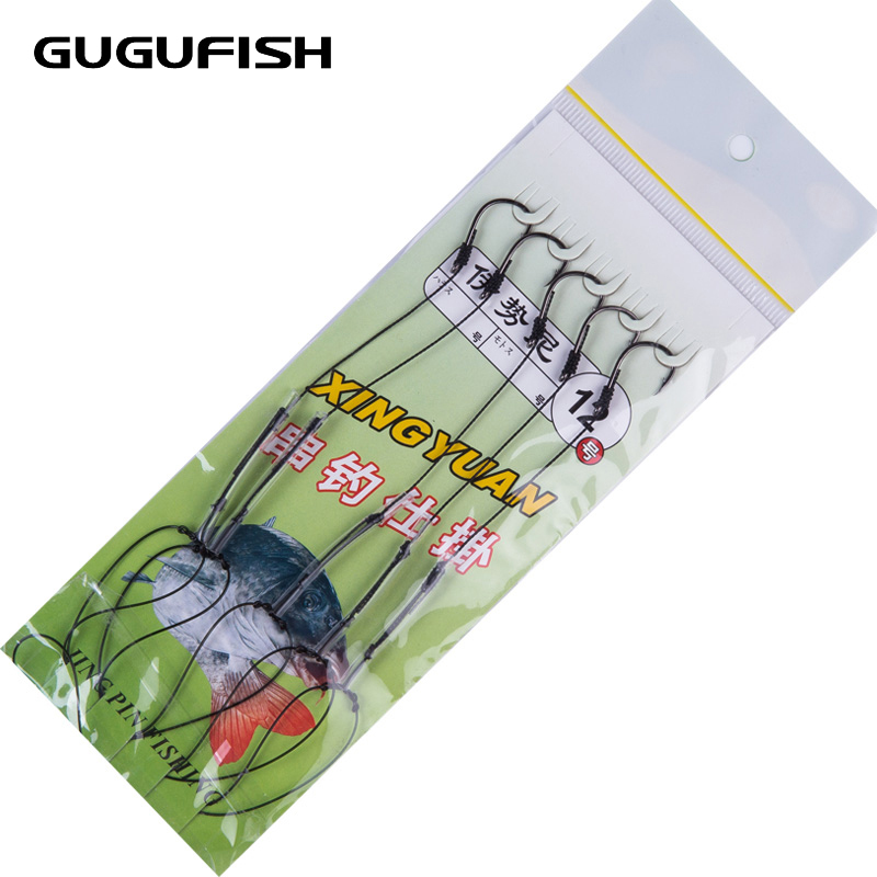 GUGUFISH Anti winding explosion fishhook A barbed hook can catch small fish can catch big fish High Carbon Steel #1-12