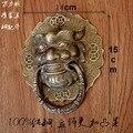 Шин! Китайская антикварная дверь Ручка Медный лев Ручка в стиле ретро шуту медный дверной молоток ручка аксессуары