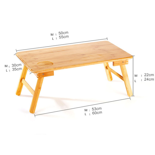 Foldable Portable Bamboo Computer Stand Laptop Desk Notebook Desk Laptop Table For Bed Sofa Bed Tray Studying Tables 5