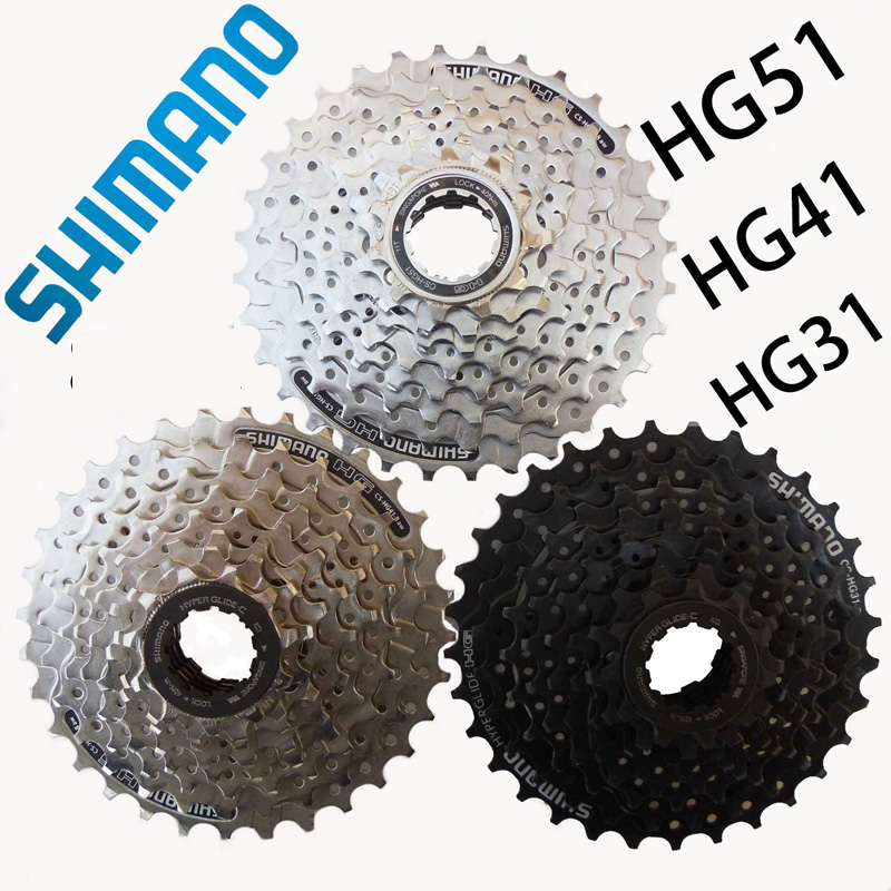 <font><b>SHIMANO</b></font> bicycle parts CS-<font><b>HG31</b></font>/41/51 mountain bike MTB cassette flywheel 11-30/32T ALIVIO DEORE bicycle parts 8s / 24s flywheel image