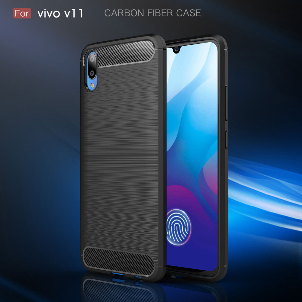 Premise 75 Vs I Maxx Pro: Case For VIVO V11i 1806 Cases Silicone Soft Bumper Carbon
