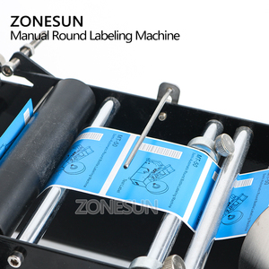 Image 2 - ZONESUN Manual Round Labeling Machine With Handle Bottle Labeler Label Applicator Glass Metal Bottle