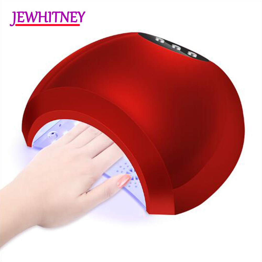 JEWHITENY 48W UV LED Lamp Nail Dryer Lamp For All Gels Polish UV LED Nail Lamp For Manicure Curing Light 10/30/60S T