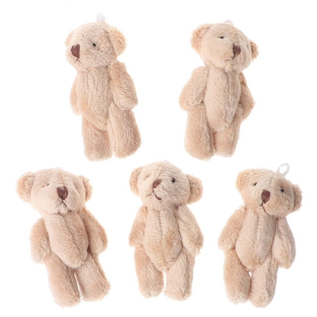 5PCS Kawaii Small Bears Plush Soft Toys Pearl Velvet Dolls Gifts Mini Teddy Bear MAY7-AXY Uncategorized Decoration Stuffed & Plush Toys Toys