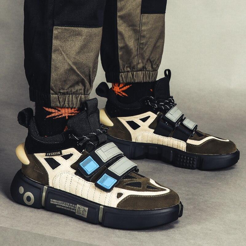 Ins hommes Vintage papa baskets Kanye mode ouest Hip Hop danse lumière respirant épais bas chaussures hommes Tenis Masculino Adulto