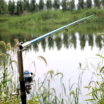 Automatic Fishing Rod Without Reel 1.8m 2.1m 2.4m 2.7m Sea River Lake Stainless Steel 7