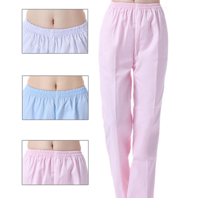 d5fdb646608 Unisex Medical Uniforms Hospital Nurse Pants Female Doctors Nursing  Workwear Nurse Medical Pants Elastic Waist Trousers 3 colors