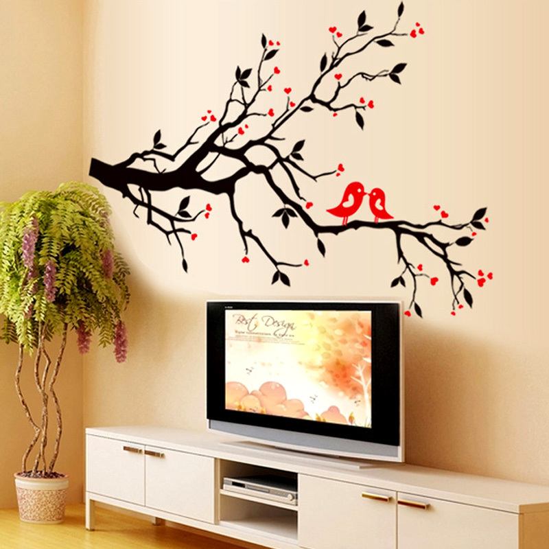 Perfect DIY Wall Art Decal Decoration Tree Branch Birds Wall Sticker Home Decor  Vinyl Mural Stickers Wallpaper House Decoration In Wall Stickers From Home  U0026 Garden ...