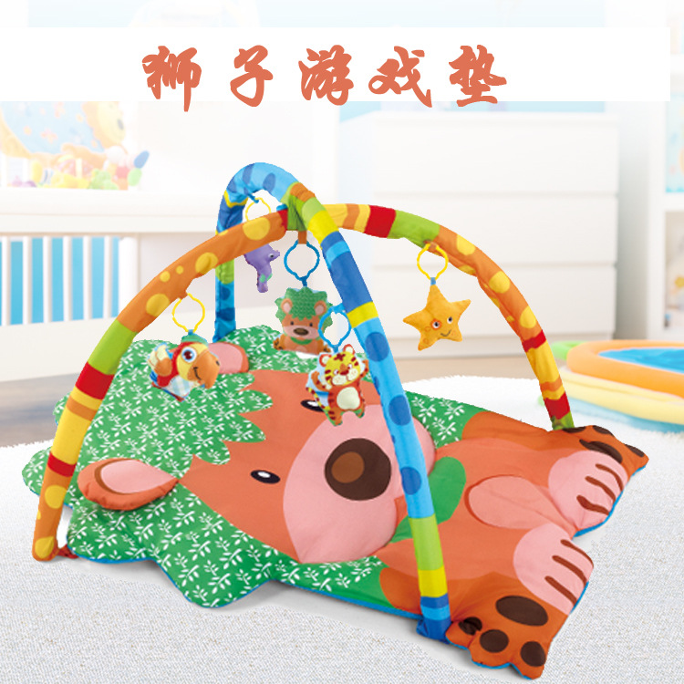 Baby Multifunctional Lion Game Pad Baby Early Education Exercise Blanket Children Enlightenment Game Blanket