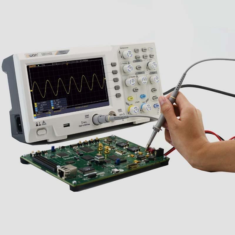 OWON Oscilloscope Multi-version 2 Channel Digital 100MHZ Bandwidth 1GS/s Oscilloscope High Accuracy Oscilloscope Free Shipping