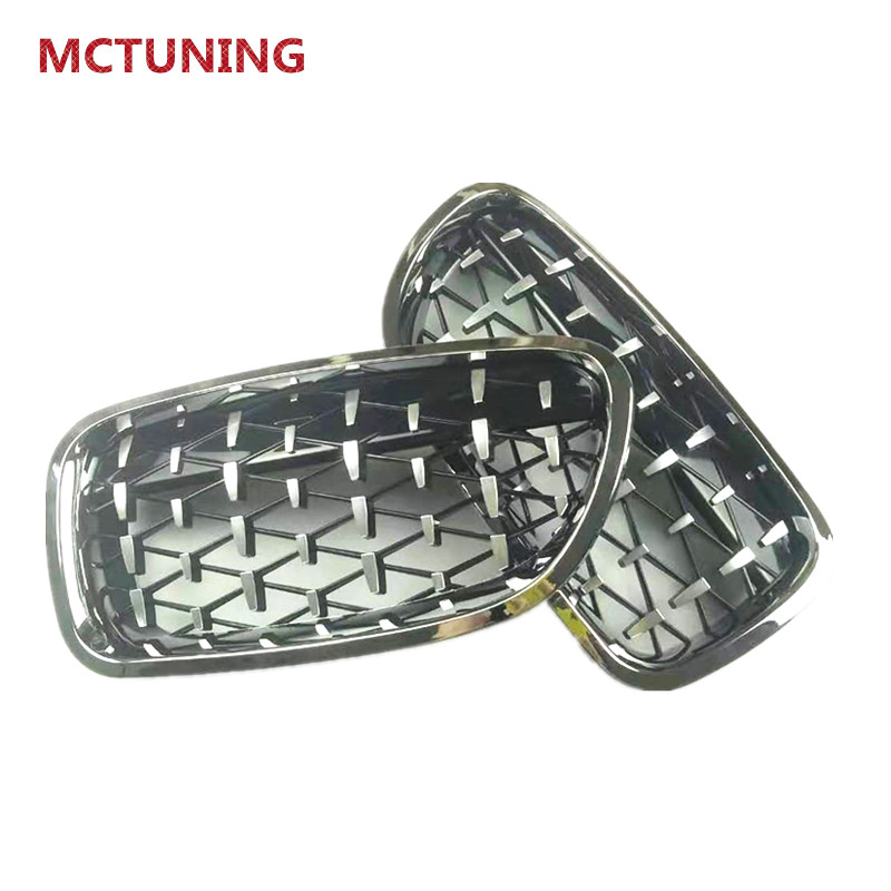 Grilles de calandre de course de rein de qualité supérieure Grille ABS pour F22 F30 F48 F52 F10 G30 G11 F15 F16 Grille de réglage de diamant
