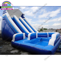 Comemrcial outdoor Kids or adults inflatable water slide with pool / giant adult inflatable slide toys for rental