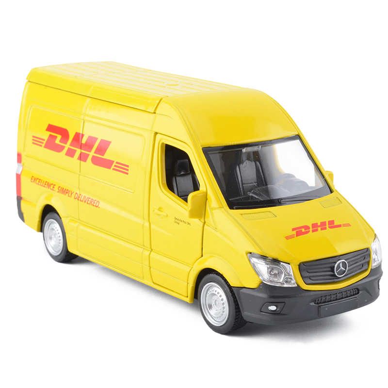 Купить с кэшбэком 5 inch Diecaste Alloy Metal Car Model For Benz Sprinter DHL Express Collection Die-casting Car Model Toy Vehicles For Children