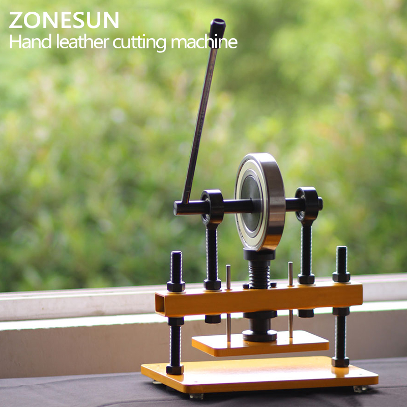 ZONESUN Manual Die Cutting Machine Die Punching Machine Pressure Cutting Tool Leather Indentation Cutting Machine