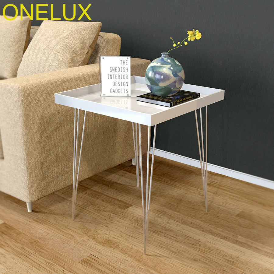 (Flat Packed)Acrylic Side Tray Tables Metal Legs,Lucite Occasional Sofa Tea Table