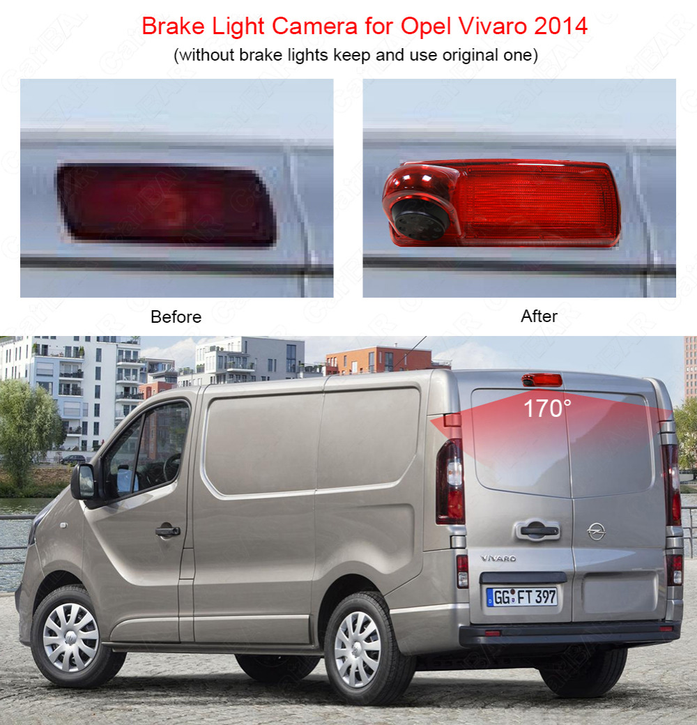 Aliexpress com buy car brake light camera for opel vivaro renault trafic 2014 back camera with 1 3 sony ccd sensor waterproof night vision from reliable