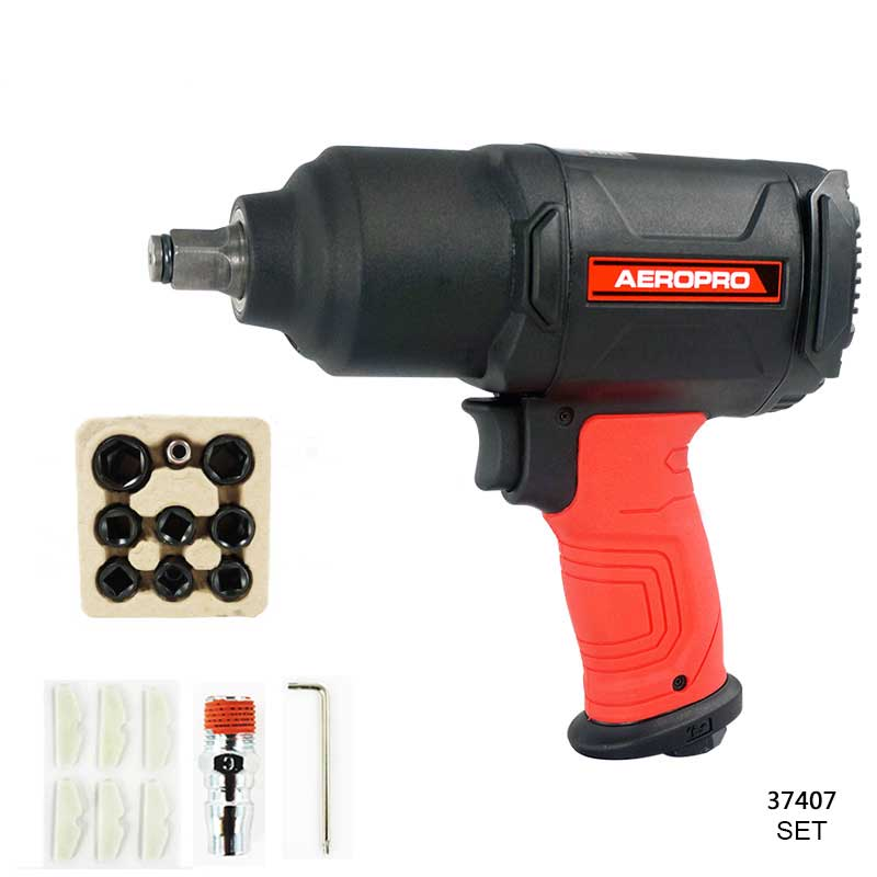 Pneumatic Impact Wrench 1 2 Pneumatic Gun Air Pressure Wrench Tool Torque 650ft Lb Set With