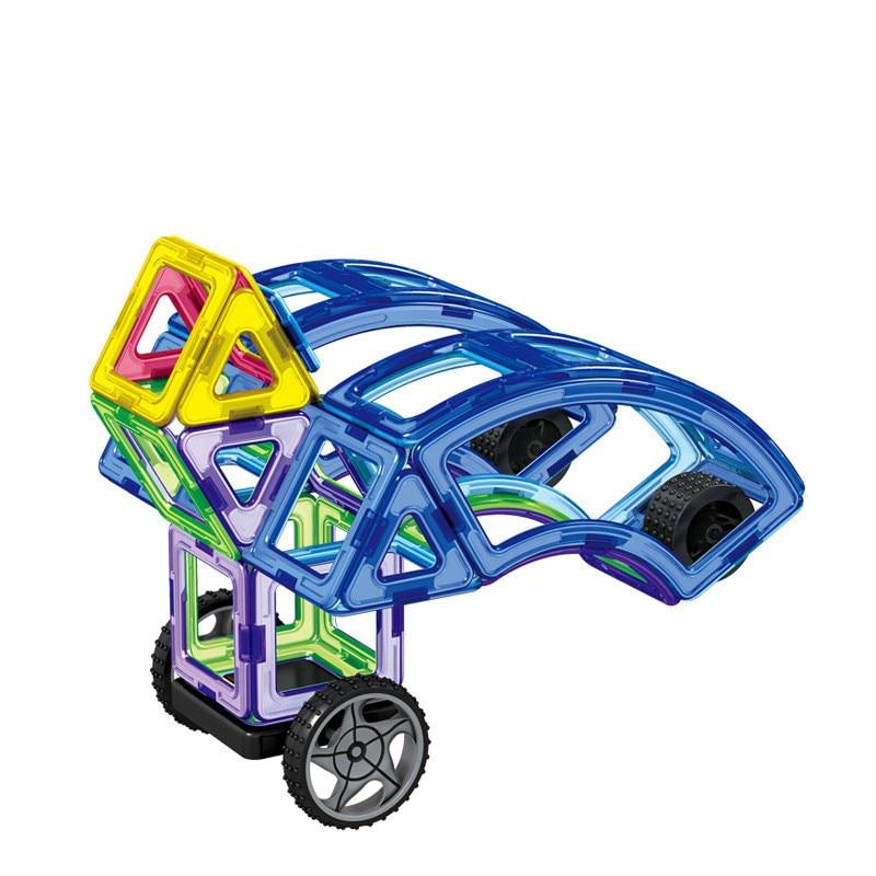 87 Pcs/lot Diy Magnetic Building Blocks Magnetic Construction Blocks Ferris Wheel Toys 3d Magnetic Designer Educational Bricks mtele brand 62 pcs pcs magnetic tiles designer construction kids educational toys creative bricks enlighten toy