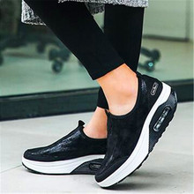 Four seasons explosions, cushions, wedges, thick soles, shaking feet, large size, casual fashion shoes