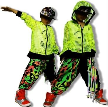 Kids Pants Fashion 2015 Hip Hop Sweatpants Jazz dance costume neon color patchwork color block harem pants hiphop sports pants color splicing inclined zipper beam feet harem pants