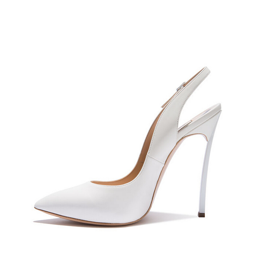 Newest Women High Heel Sandals Fashion Pointed Toe Metal Heels Shoes Ankle Strap White Shallow Summer Office Shoes Newest Women High Heel Sandals Fashion Pointed Toe Metal Heels Shoes Ankle Strap White Shallow Summer Office Shoes