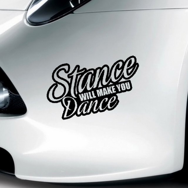 Xgs decal car decal vinyl cut sticker stance will make you dance 15cm x 9cm car