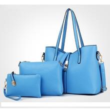 Channels Women Handbags Famous Designer Purses and Handbags 2016 New Fashion Messenger Bags 3 Sets Leather  Handbag Tote Bolsas