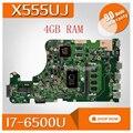 X555UJ scheda madre Del Computer Portatile per ASUS per ASUS X555UJ X555UF F555U X555UB X555UQ X555U Prova mainboard originale 4G di RAM I7-6500U