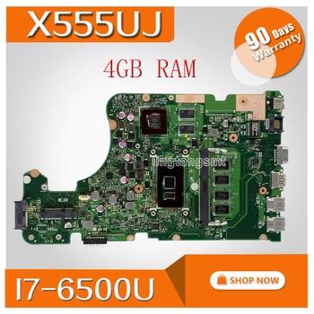 X555uj 노트북 마더 보드 asus 용 asus x555uj x555uf f555u x555ub x555uq x555u 테스트 메인 보드 4g ram I7-6500U