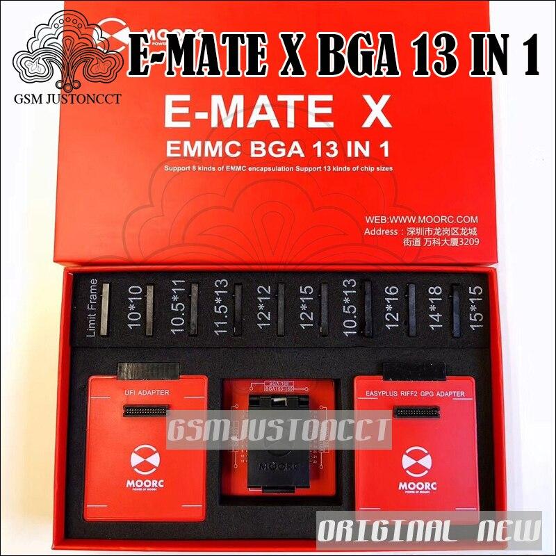 2018 I Più Nuovi scatola di Emate E-compagno di X EMMC BGA 13 IN 1 Supporto BGA100/136/168/ 153/169/162/186/221/529/254 per Una Facile jtag più UFI box
