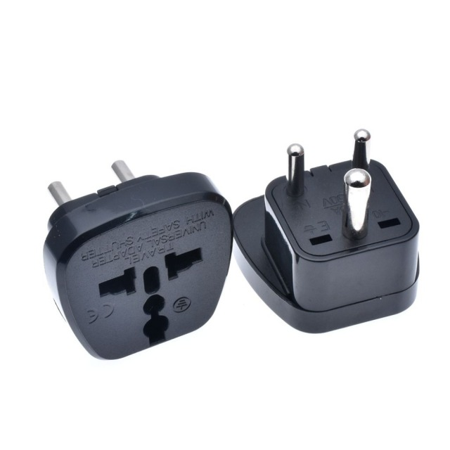 Iec Type D Uk Au Us Eu To Small South Africa Plug Converter Adaptor India Nepal Sri Lanka Tourism Safety Door
