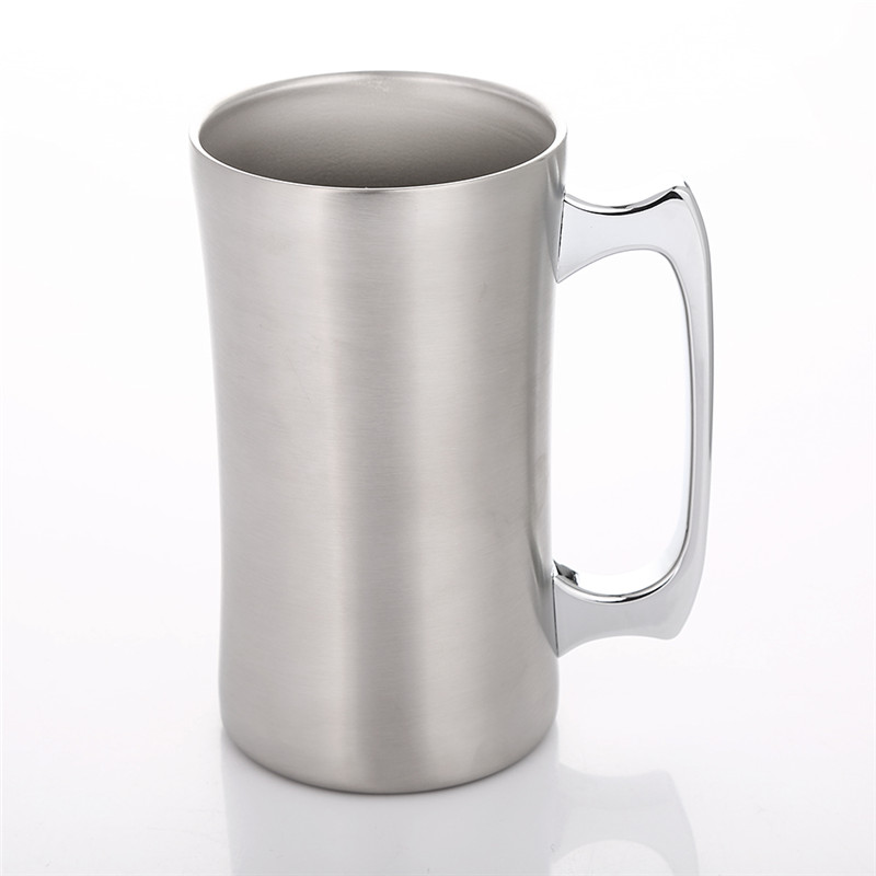Realand <font><b>20oz</b></font> Premium Stainless Steel Vacuum Double Wall Insulated Beer <font><b>Mug</b></font> Coffee Cup Milk Water Soda Tumbler with Handle image