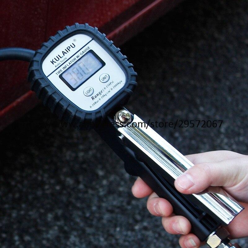 Medidor de pressão de pneus, ferramenta digital
