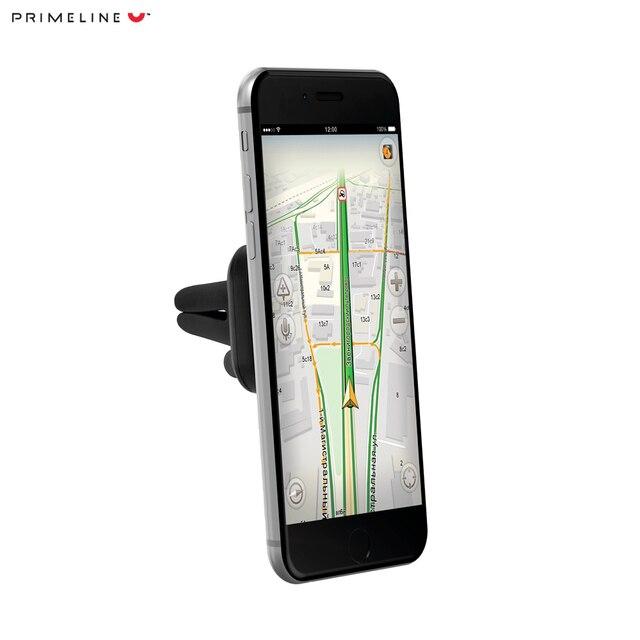 Автомобильный держатель для смартфонов, магнитный, крепление на вентиляционную решетку, Prime Line