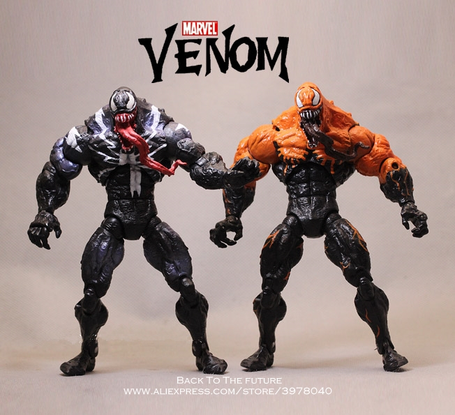 Disney Marvel Original 18cm Venom from Spider Man PVC mini doll Anime Action Figure Collectible Toy model for children gift wvw 18cm hot sale movie hero spider man venom play arts model pvc toy action figure decoration for collection gift