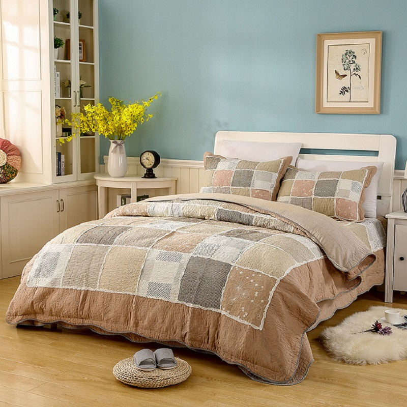 CHAUSUB 100% Cotton Patchwork Quilt Set 3PCS/4PCS Printed Bedding Quilted Bedspread Bed Cover Duvet Cover Sheets Shams Coverlet ...