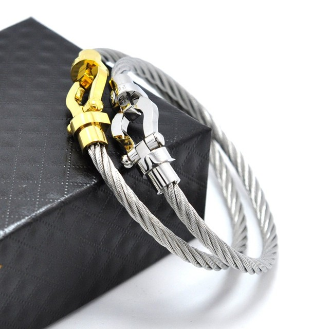 18CM newest high quality france jewelry brand fred buckle bracelet made by titanium steel  magnetic clasp bracelets