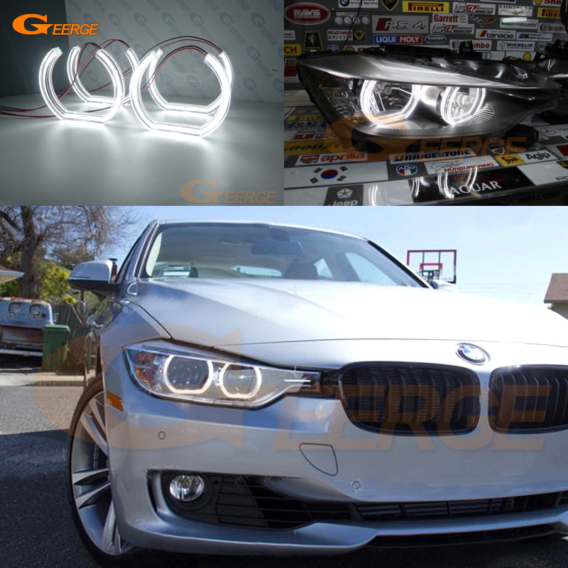 For BMW 3 Series F30 F31 F34 2012 2013 2014 2015 2016 halogen headlight Excellent DTM Style Ultra bright led Angel Eyes kit DRL