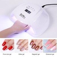54W Nail Art Dryer 36 LEDs UV LED Lamp Curing Gel Polish Auto Sensing Nail Tools with 3 Timer Settings