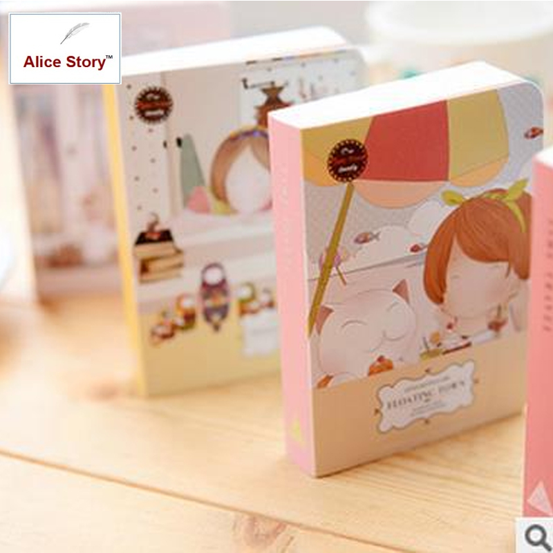 Alice Story Travel Journal for Planner Floating Town Design Mini Size Cute Notebook Dairy Journal for Pocket Hand Notebook