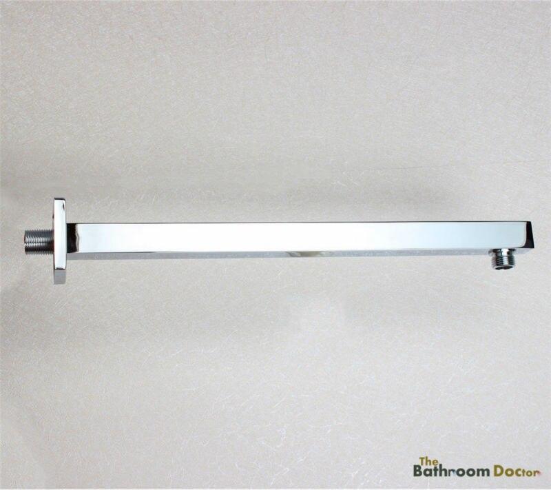 Chrome Stainless Steel 16 inch 400mm Shower Arm Bar Holder For Shower Head