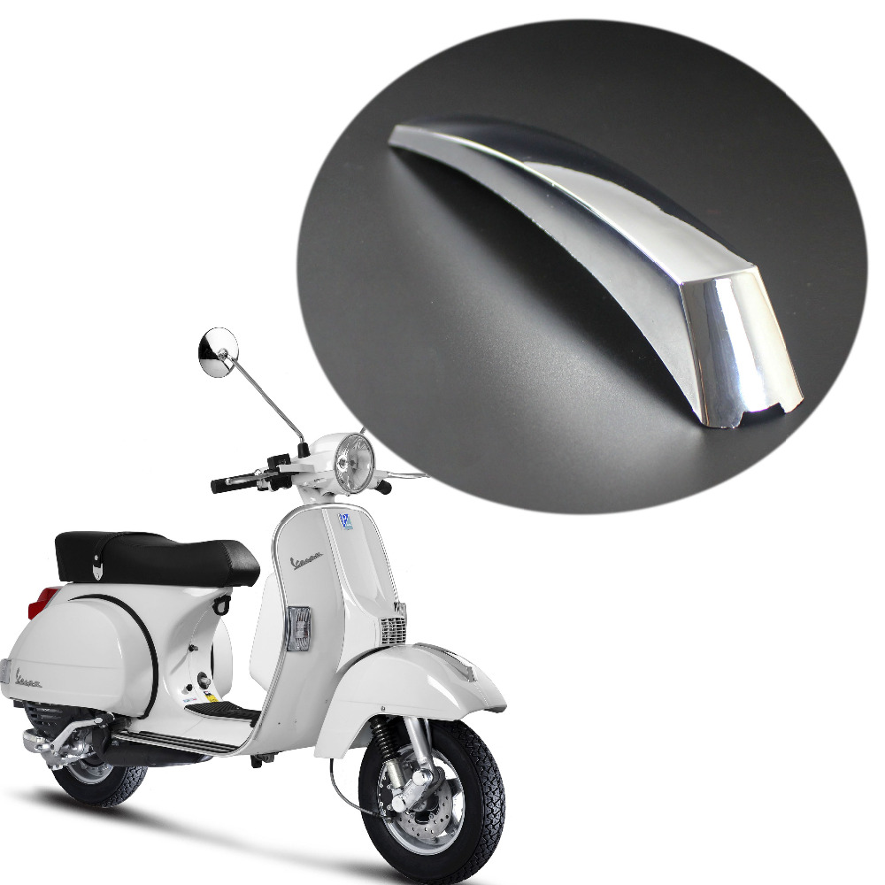 US $7 97 20% OFF|For VESPA PX 125 150 200 LML T5 EFL Disk Scooter Front  Fender Mount Strip Crest Chrome Mudguard Decoration-in Covers & Ornamental