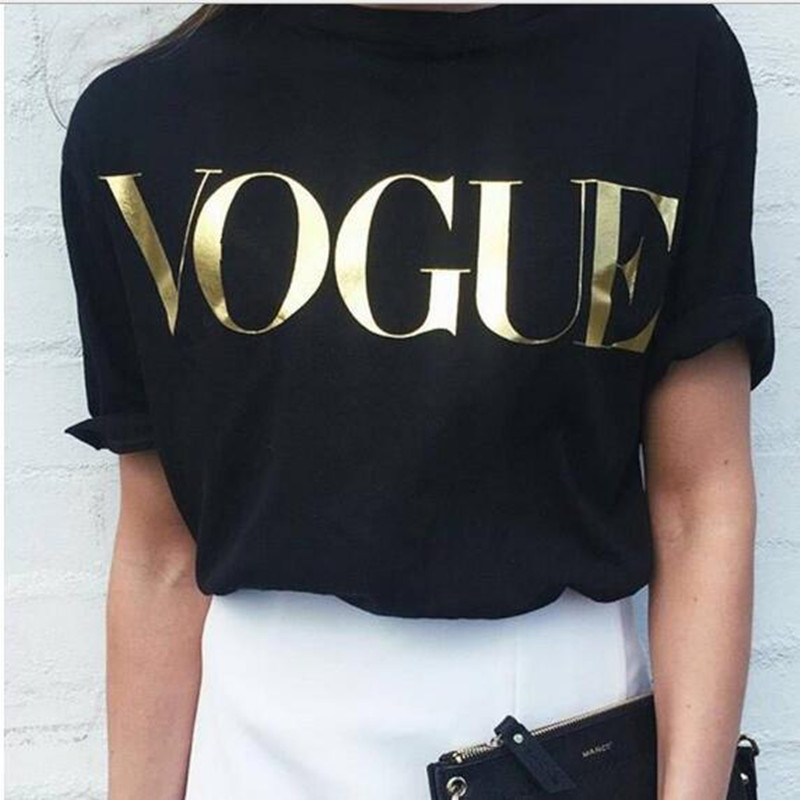Famous Brand Design T Shirt For Women Vogue Printed T