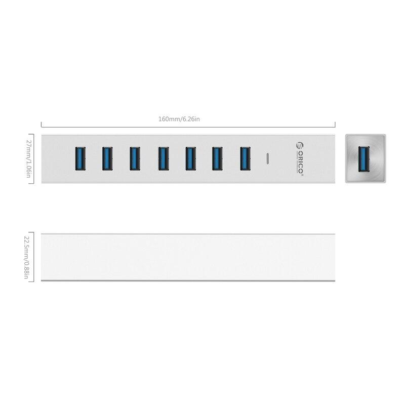 Linux Mac OS ORICO Aluminum 4 Ports USB 3.0 Hub for Windows 7 8 10