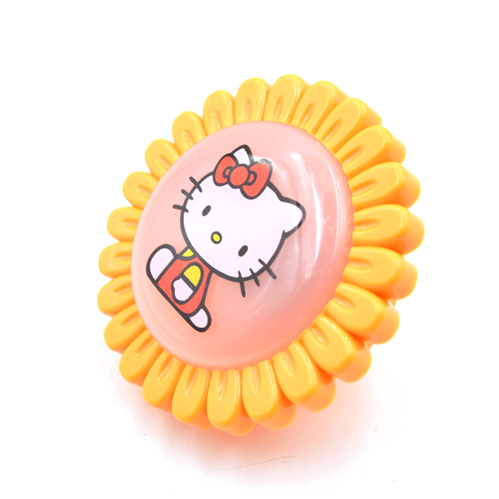 ZINUO Flower LED Night Light Sunflower With Hello Kitty Novelty Lamp Bedroom Decoration AC220V Light Sensor Kids Bedside Lamp b
